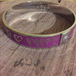 Coach Poppy Pink/Silver bangle bracelet